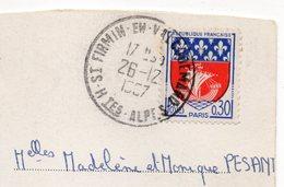 1967--cachet Manuel SAINT FIRMIN EN VALGAUDEMAR -05- Sur Carte Postale - Marcophilie (Lettres)