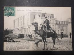 """Le Havre - CPA - La Plage Et L'Hôtel Frascati """" J. B Doussineau Ex- Boulanger - Victime De La Campagne De L'ouest - Haven"""