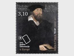 2017 Croatia - 500 Years Of Reformation - Matthias Flacius Theologist  1 V  MNH** (ao) MiNr. 1293 - Christendom