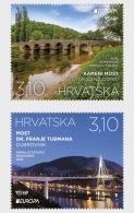 2018 Croatia - Europa CEPT - Bridges - MNH** (ao) - MiNr. 1318 - 1319 - Brücken
