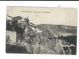 Espagne Sepulveda Panorama De Vergers Défaut Coin Haut Droit Au Dos Albert Legendre Pharmacien Chateau-Landon - Espagne