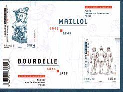 France. Bloc Maillol / Bourdelle N** - Neufs
