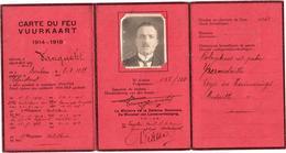 Carte Du Feu - Vuurkaart 1914-1918 - Adjudant Artillerie 17e Regiment - Bornem - Documenti Storici