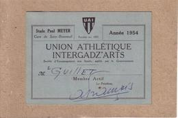 VAL DE MARNE - SUCY - ARTS ET METIERS - U.A.I. , UNION ATHLETIQUE INTERGADZ' ARTS - CARTE DE MEMBRE , MR GUILLET , 1954 - Sports