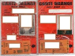 2 CARTES ORANGE AVEC COUPONS  Ratp Sncf Aptr - Transportation Tickets