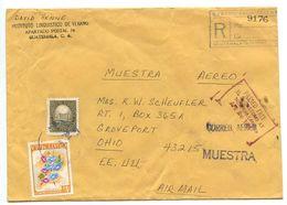 Guatemala 1967 Registered Airmail Cover To Groveport, Ohio W/ Scott C352 & 389 - Guatemala