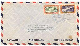 Guatemala 1954 Airmail Cover To North Vancouver, Canada W/ Scott 334 & 348 - Guatemala