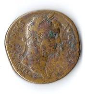 Monnaie Romaine Hadrianvs Hadrianus Hadrien Sesterce Bronze - 3. The Anthonines (96 AD To 192 AD)