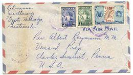 Guatemala 1949 Airmail Cover Jacaltenango To Clark's Summit, Pennsylvania - Guatemala