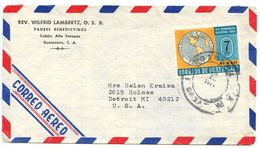 Guatemala 1971 Airmail Cover Copán - Padres Benedictinos To U.S. W/ Scott C358 - Guatemala