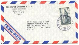Guatemala 1970's Airmail Cover Copán To Buffalo NY W/ Scott C404 Our Lady Of Coro - Guatemala