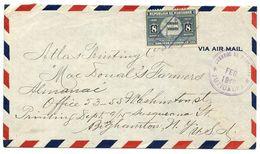 Honduras 1940 Airmail Cover Juticalpa To Binghamton NY W/ Scott 340 Flag - Honduras