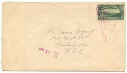 Honduras 1930's Cover Tela To Cleveland OH W/ Scott 301 - Honduras