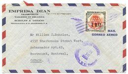 Honduras 1955 Airmail Cover Tegucigalpa To Canada W/ Scott C240 Rotary International - Honduras