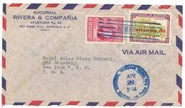 Honduras 1954 Airmail Cover San Pedro Sula To U.S. W/ Scott C171 & C209 - Honduras