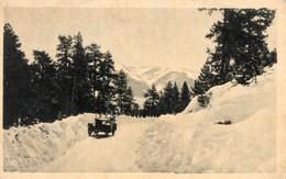 66. CPA. FONT ROMEU. Route De L'ermitage, Voiture Ancienne. 1937. - Autres Communes