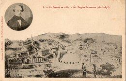 71. CPA. LE CREUSOT. Le Creusot En 1851. En Médaillon, M. Eugéne Schneider. 1908. - Le Creusot