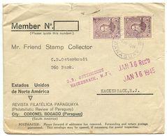 Paraguay 1944 Cover Coronel Bogado - Revista Filatélica Paraguaya W/ Scott 403 - Paraguay