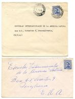 Uruguay 1950's 2 Covers Mercedes & Montevideo To U.S. W/ Scott 572A Artigas - Uruguay