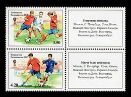 Tajikistan 2017 Mih. 780/81 Football. FIFA World Cup In Russia (II) MNH ** - Tajikistan