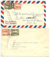 Peru 1949-50 3 Covers Lima & Miraflores To U.S. W/ Scott 429, 434, C89 - Peru