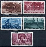 41768) LIECHTENSTEIN # 192-96 Postfrisch Aus 1941, 20.- € - Liechtenstein