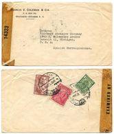 Ecuador 1940's Censor Cover Guayaquil To U.S. W/ Scott 362, 407, RA49A - Ecuador