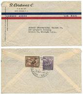 Ecuador 1947 Airmail Cover Quito To Detroit MI W/ Scott C161 & 380 - Ecuador