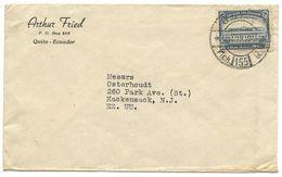 Ecuador 1949 Cover Quito To Hackensack, New Jersey W/ Scott 439 - Ecuador
