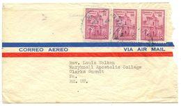 Ecuador 1940's Airmail Cover Guayaquil To Clarks Summit PA W/ Scott 479 X 3 - Ecuador