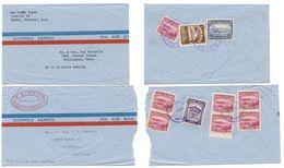 Ecuador 1940's-50's 2 Airmail Covers Manta To Bellingham, Washington - Ecuador