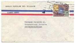 Ecuador 1968 Airmail Cover Quito To Tecumseh MI W/ Scott 746 Imperf - Ecuador