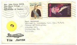 Ecuador 1977 Airmail Cover Quito To Covington KY W/ Scott C589 & C592 - Ecuador