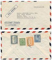 Ecuador 1940's Airmail Cover Guayaquil To Detroit MI W/ Scott 439, C128, RA49A, RA55 - Ecuador