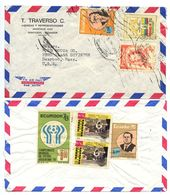Ecuador 1970's 2 Airmail Covers Guayaquil To Dearborn MI, Ford Motor Co. - Ecuador