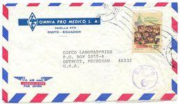 Ecuador 1978 Airmail Cover Quito To U.S. W/ Kiosco 6 Handstamp - Ecuador