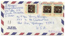 Ecuador 1970's Airmail Cover Quito To Bad Axe MI W/ Scott 910 X 3 - Ecuador