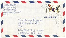 Ecuador 1984 Airmail Cover Esmeraldas To U.S. W/ Scott C724 Soccer - Ecuador
