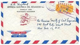 Ecuador 1965 Airmail Cover Guayaquil To U.S. W/ Scott C434 18th Olympic Games - Ecuador