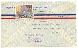Ecuador 1960's Airmail Cover Quito To U.S. W/ Scott 746 Cent. Ecuadorian Postage Stamps - Ecuador
