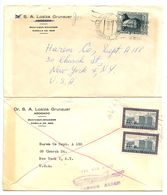 Ecuador 1960's 2 Airmail Covers Guayaquil To U.S. W/ Scott C341 & 667 - Ecuador
