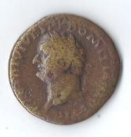 Monnaie Romaine Vespasien Domitianvs Sesterce - 2. The Flavians (69 AD To 96 AD)