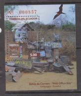 ECUADOR 2011 GALAPAGOS FLOREANA ISLAND MAILBOX SOUVENIR SHEET MNH SC# 2044 - Ecuador