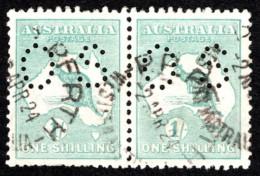 """AUS SC #OB42 U PR 1915 Official / 1sh Small """"OS"""" WMK 9  CV $105.00 - Perfins"""