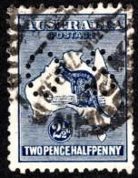 """AUS SC #OB46 U 1915 Official / 2 1/2p  Small """"OS"""" WMK 10  CV $16.00 - Perfins"""