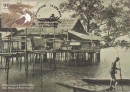 22B: Carte Maximum Card Early Trade Sampan Boat Concordant Place FDI Maxicard,MC - Stamps