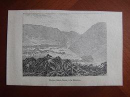 Réunion : Gravure De 1887 Par Hue Et Hauricot « Rivière Saint-Denis ». - Documenti Storici