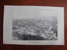 Réunion : Gravure De 1887 Par Hue Et Hauricot « Vue Générale De Saint-Paul ». - Documenti Storici