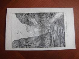 Réunion : Gravure De 1887 Par Hue Et Hauricot « Gorges Du Bornieu Saint-Paul ». - Documenti Storici