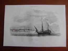 Réunion : Gravure De 1848 Par Amédée Gréhan : « Un Négrier ». Ce Navire Desservait L'Ile Bourbon : Voir Le Texte. - Documenti Storici